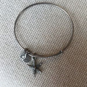 Alex and Ani silver starfish charm bangle